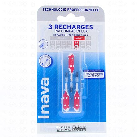 INAVA Brossettes interdentaires fines pack de 3 recharges - Illustration n°1