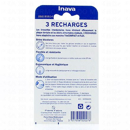 INAVA Brossettes interdentaires fines pack de 3 recharges - Illustration n°2