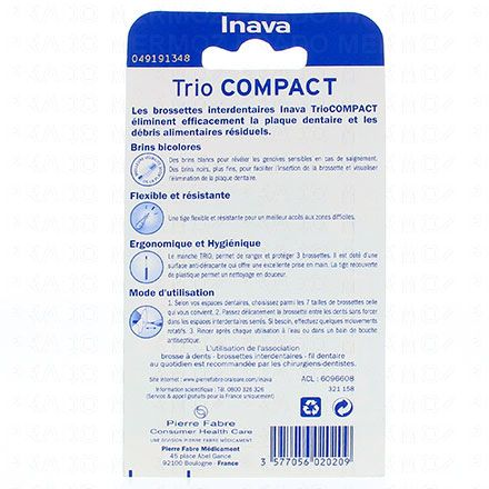 INAVA Brossettes trio compact 444 large ISO4 1.5mm pack de 2 - Illustration n°2