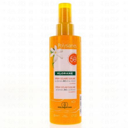 KLORANE Polysianes spray solaire sublime corps 200ml - Illustration n°1