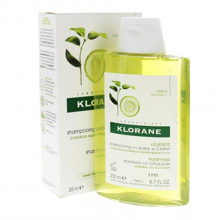KLORANE Shampooing à la pulpe de Cédrat flacon 200ml - Illustration n°2