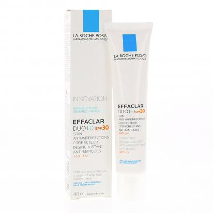 LA ROCHE POSAY Effaclar Duo + SPF30 soin anti imperfections tube 40ml - Illustration n°2