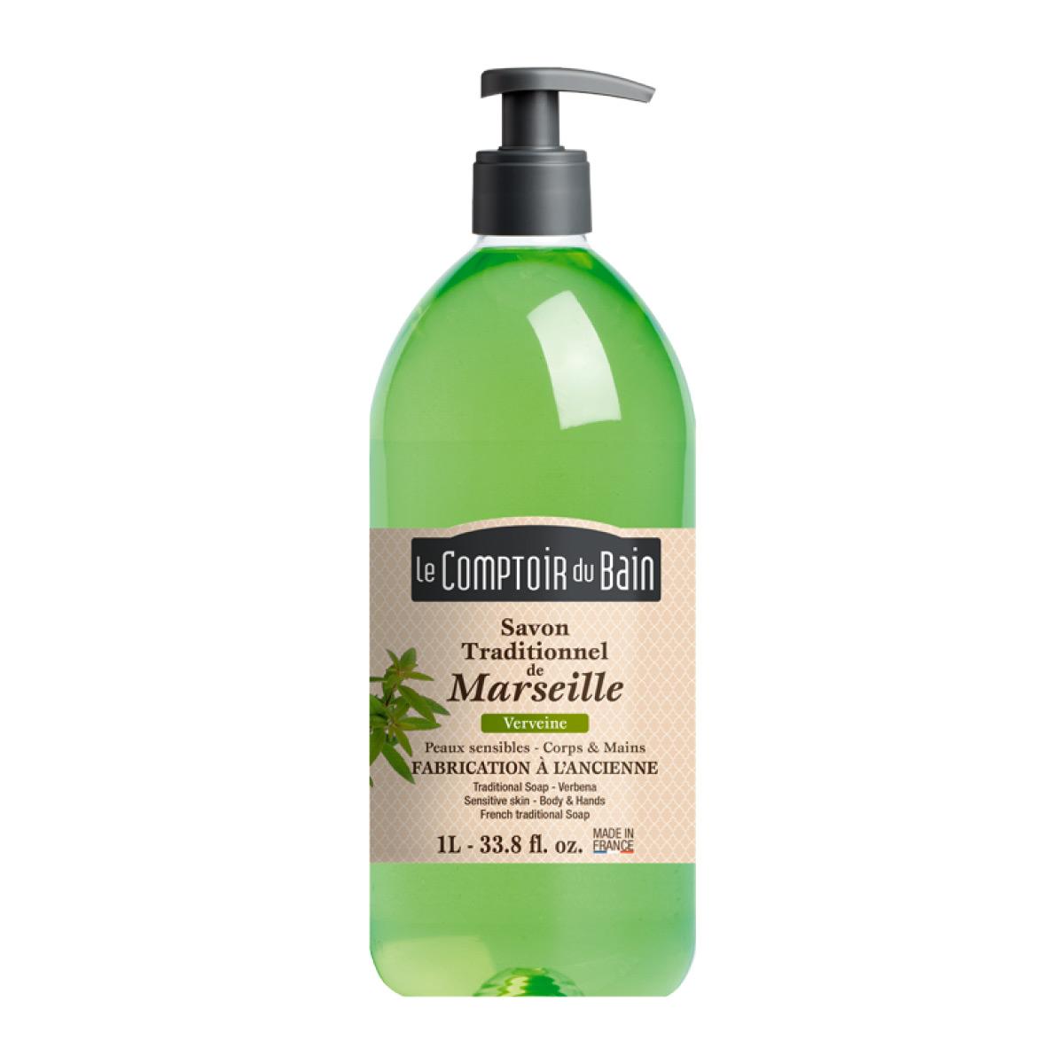Le comptoir du bain savon liquide de marseille verveine - Le comptoir du bain savon liquide de marseille ...