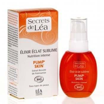 SECRETS DE LEA Elixir éclat sublime Nutrition intense Pump'skin Bio flacon 30ml - Illustration n°2