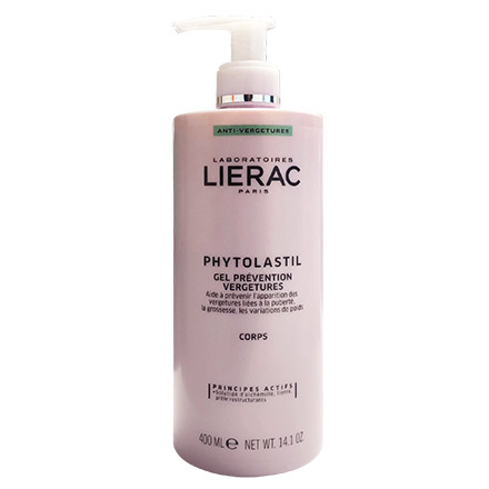 LIERAC Phytolastil gel prévention vergetures flacon pompe 400ml - Illustration n°1