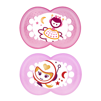 MAM Duo sucettes +18 mois anatomiques nuit silicone REF 40 - Illustration n°2