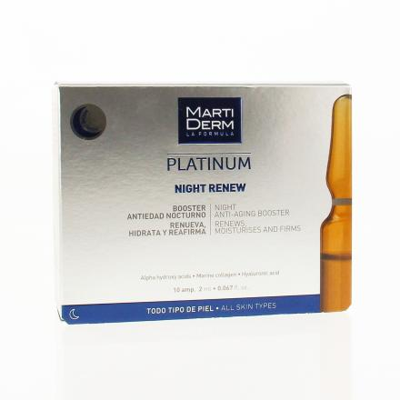 MARTIDERM Platinum booster anti-âge nuit ampoules x 10 - Illustration n°1