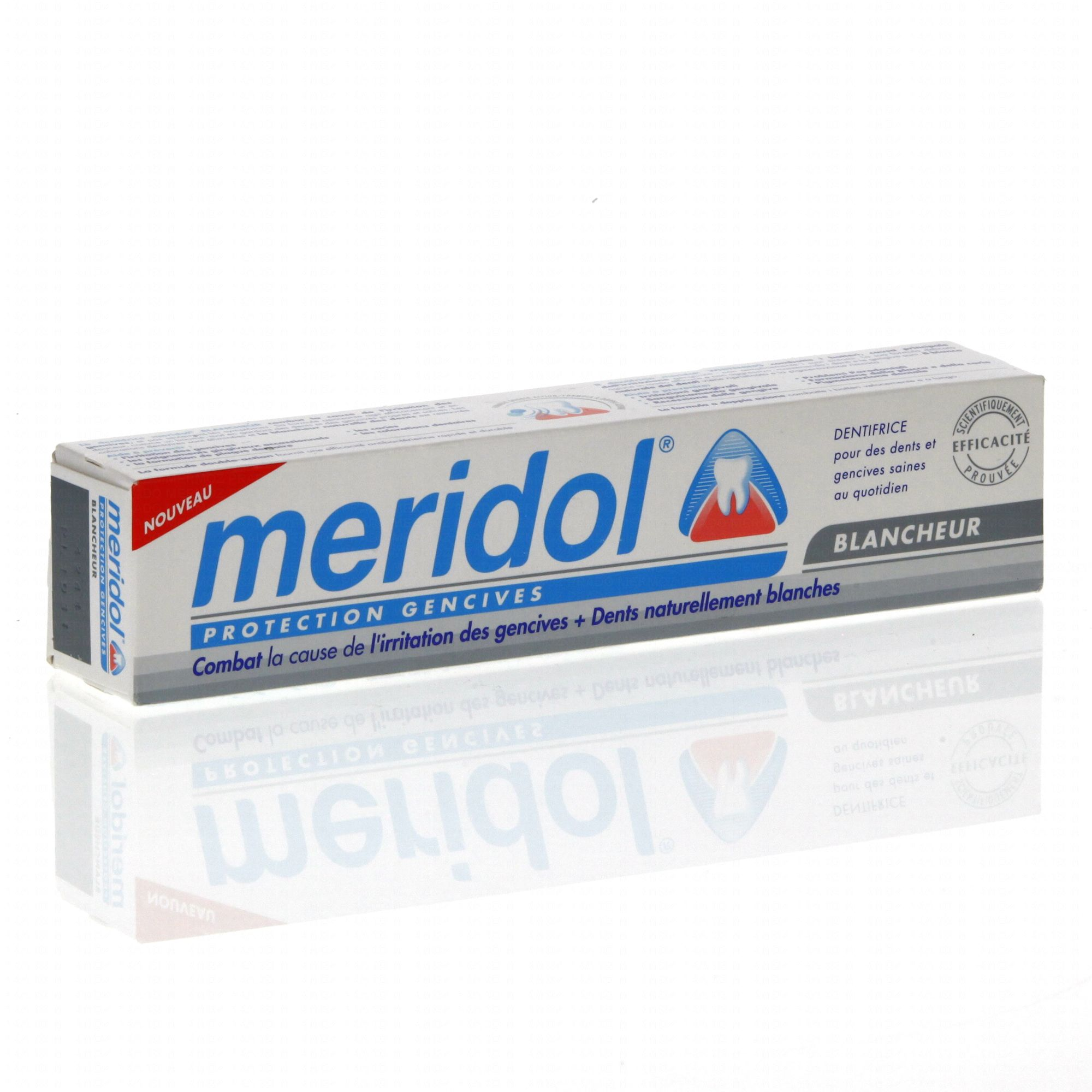 meridol dentifrice protection des gencives blancheur tube 75ml parapharmacie en ligne. Black Bedroom Furniture Sets. Home Design Ideas