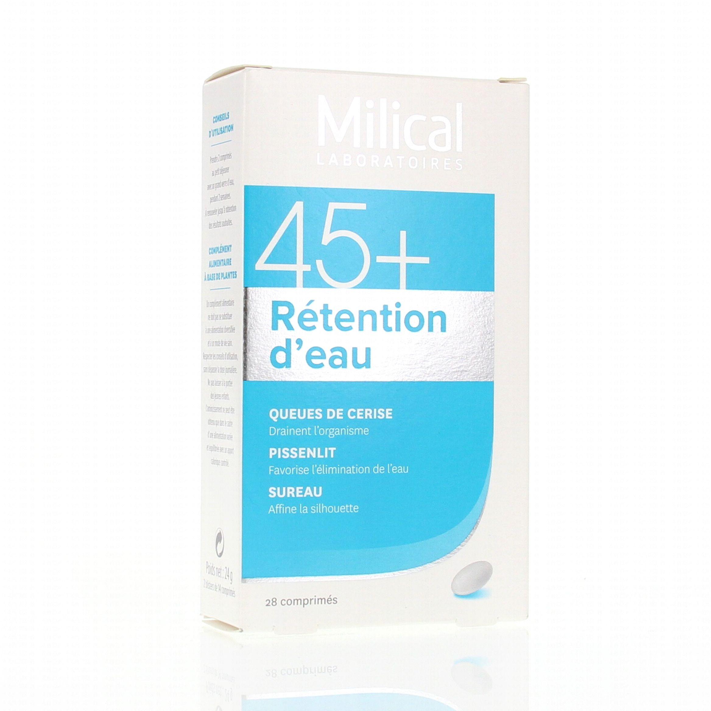 MILICAL 45+ rétention d'eau 28 comprimés - Parapharmacie
