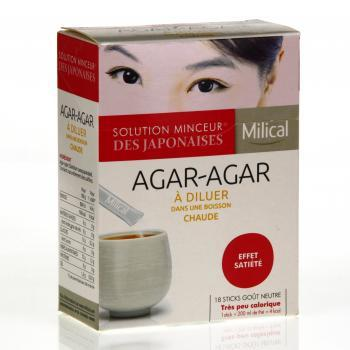 MILICAL Agar-Agar à diluer x18 sticks