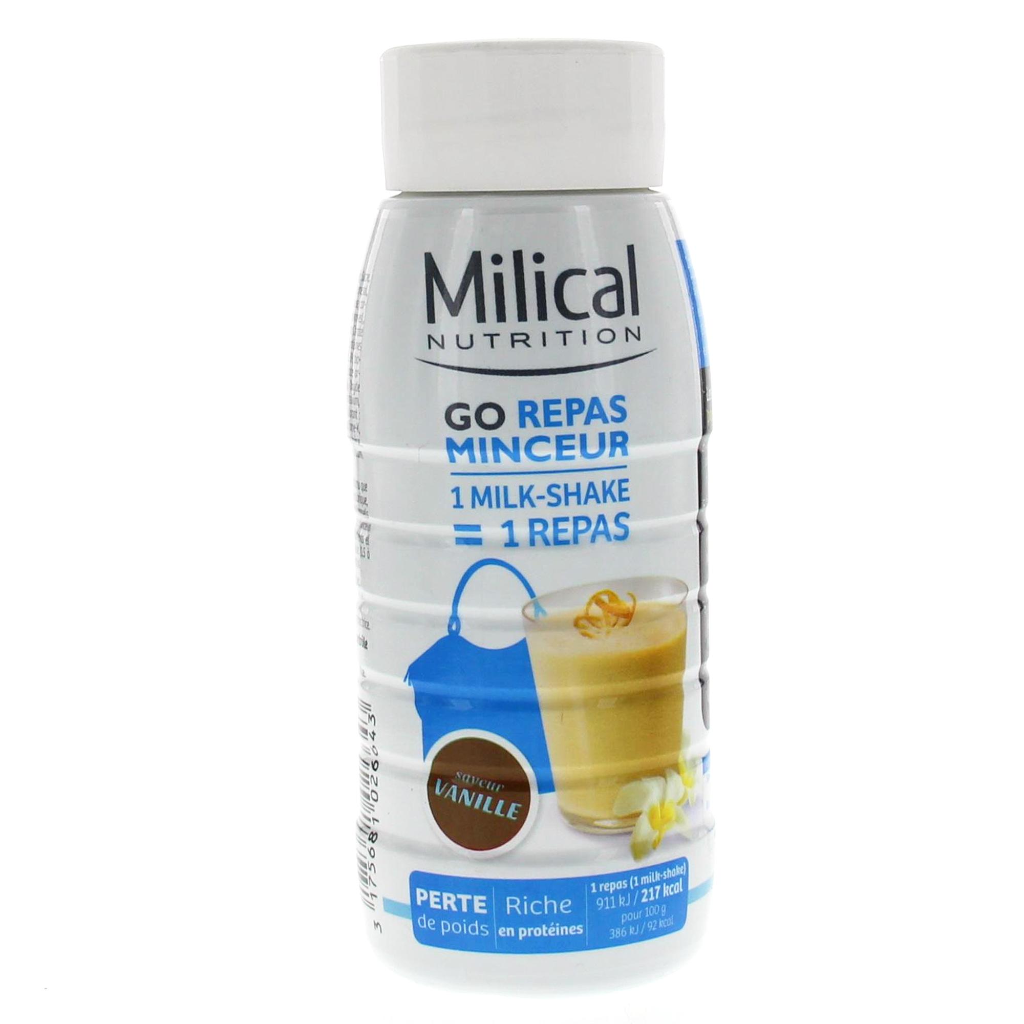 MILICAL Go repas minceur boisson goût vanille 236ml