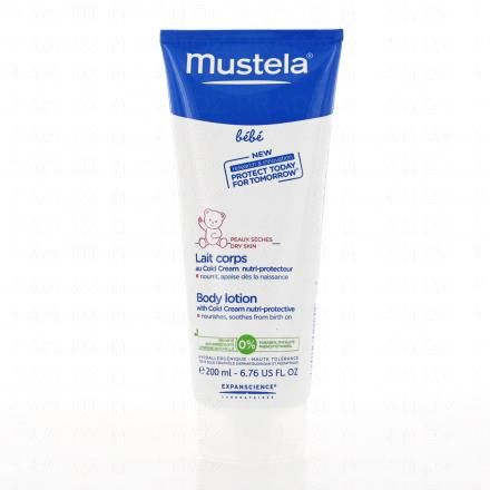 MUSTELA Lait Corps au Cold Cream nutri-protecteur tube 200ml - Illustration n°1