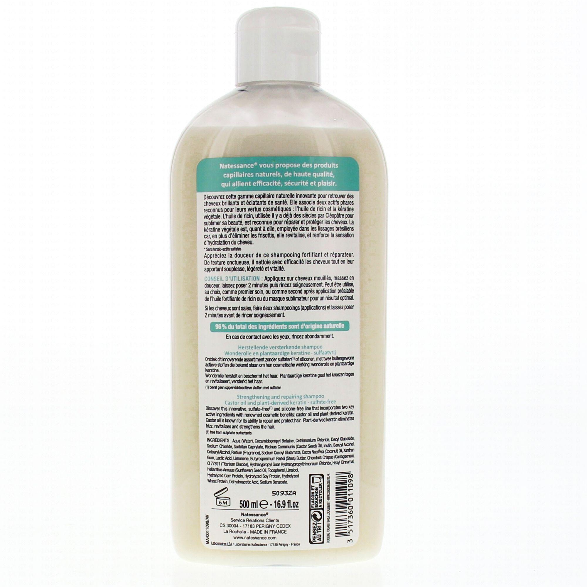 shampoing huile de ricin