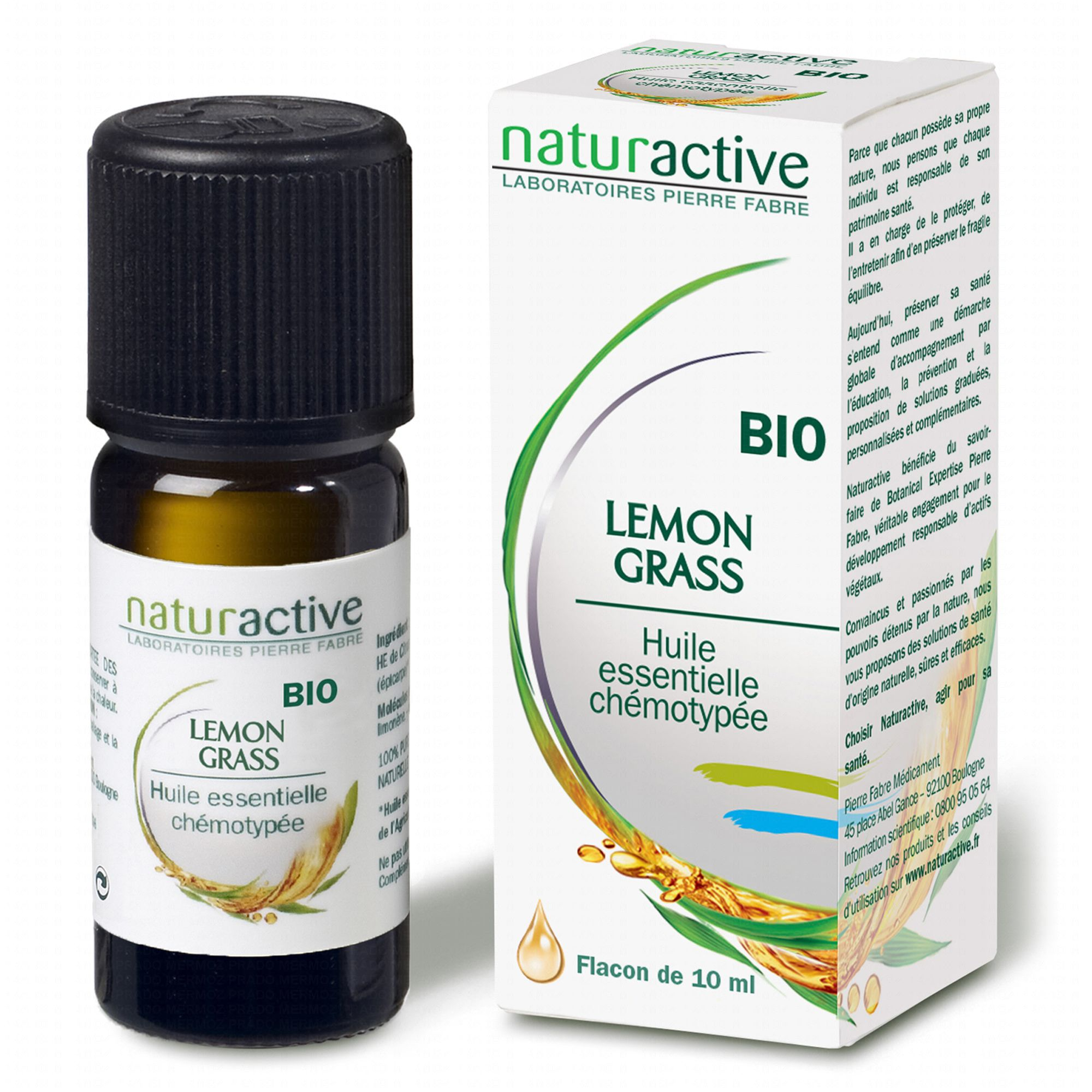 Naturactive huile essentielle bio lemongrass flacon 10ml - Huile essentielle de lavande prix ...