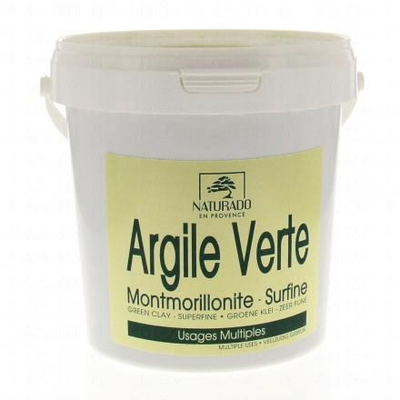 NATURADO Argile verte Montmorillonite surfine pot 1kg  - Illustration n°1