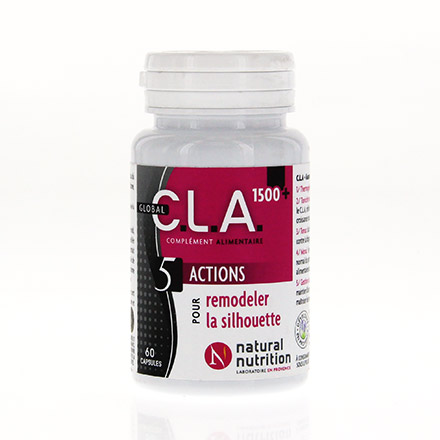 NATURAL NUTRITION C.L.A 1500 pot de 60 capsules - Illustration n°1