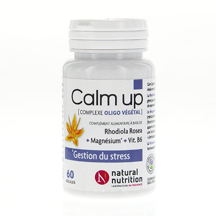 NATURAL NUTRITION Calm up pot de 60 gélules - Illustration n°1