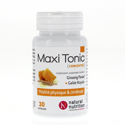 NATURAL NUTRITION Maxi tonic 30 capsules - Illustration n°1