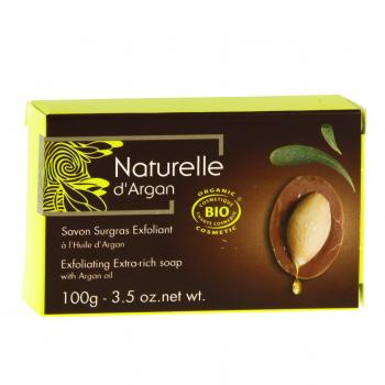 NATURELLE D'ARGAN Savon surgras exfoliant bio 100g - Illustration n°1