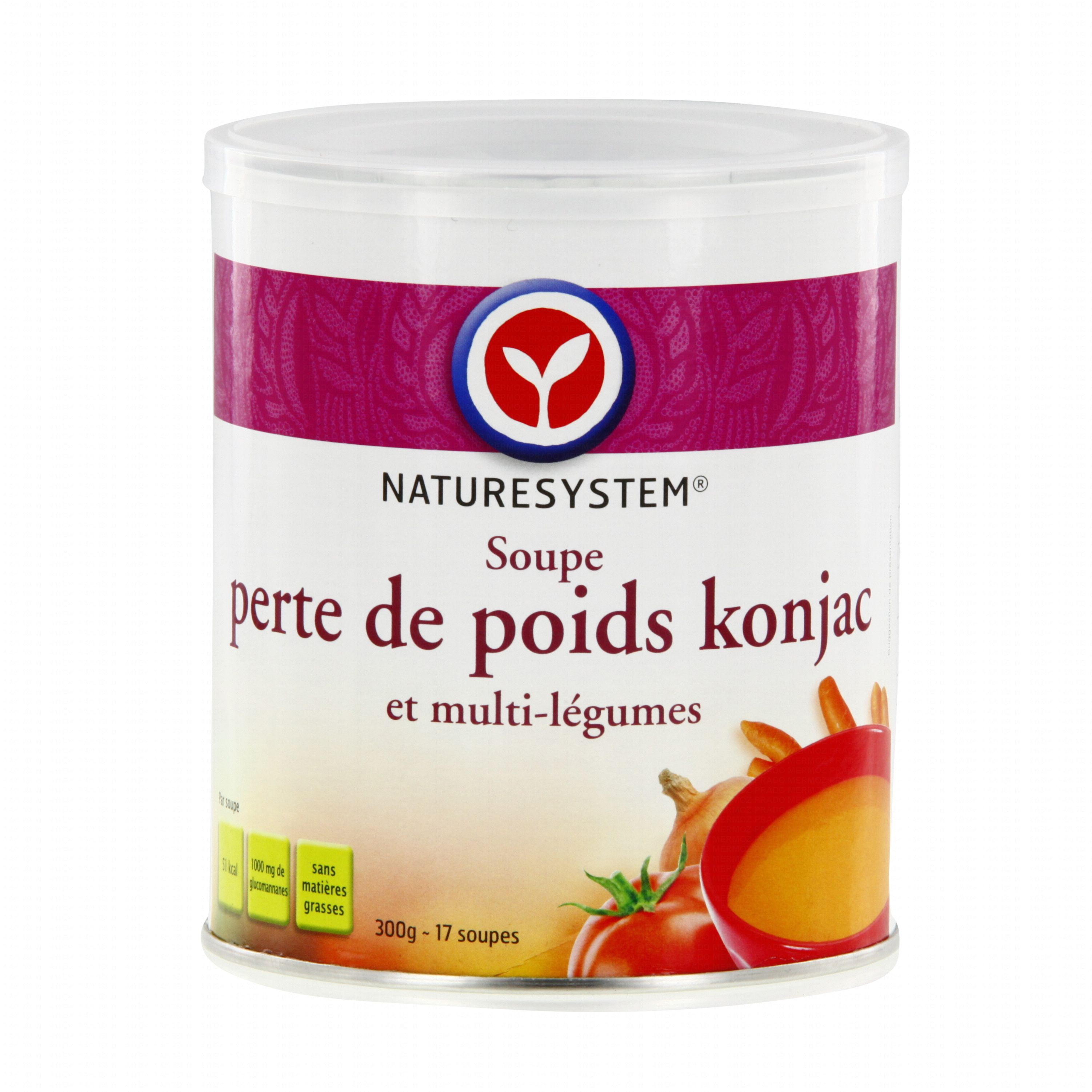 NATURESYSTEM Soupe perte de poids konjac et multi légumes