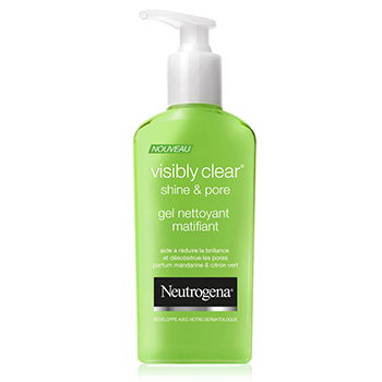 NEUTROGENA Visibly Clear shine & pore gel nettoyant matifiant