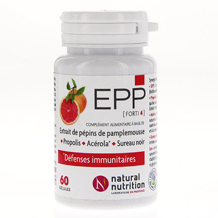 NATURAL NUTRITION Epp forti 4 (60 gélules)