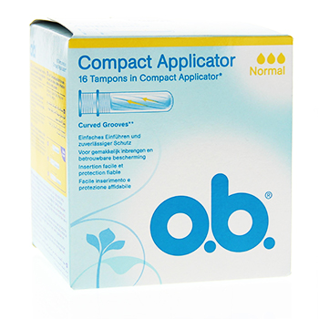 OB Compact Applicator tampons normal x 16