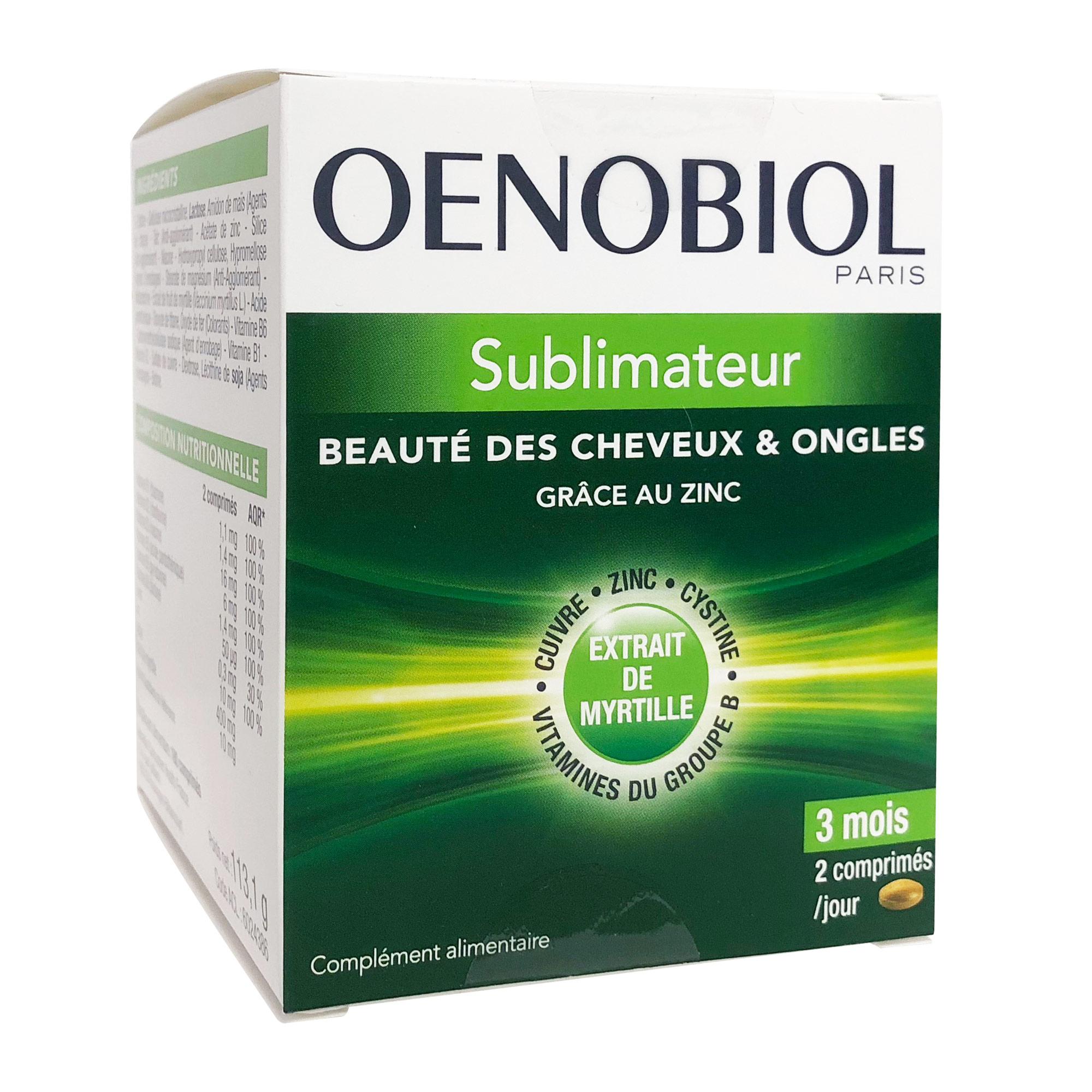 Oenobiol Capillaire Sublimateur Cheveux Et Ongles 180 Comprimes