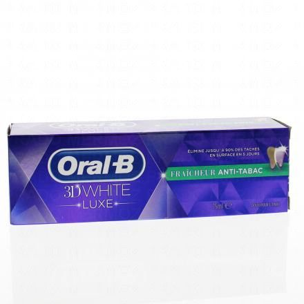 ORAL-B 3D White Luxe fraîcheur anti-tabac - Illustration n°1