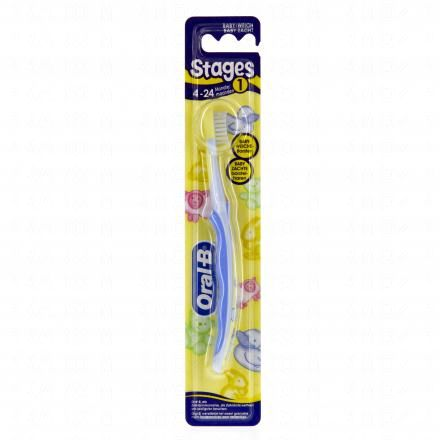 ORAL-B Brosse à dents stages 1 enfant 4 à 24 mois - Illustration n°1