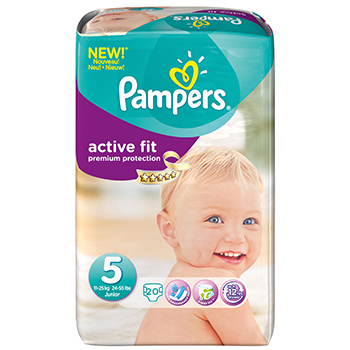 PAMPERS Couches active fit taille 5 (11 à 25kg) x 20