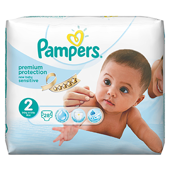 PAMPERS Couches new baby taille 2 (3 à 6 kg) x 28