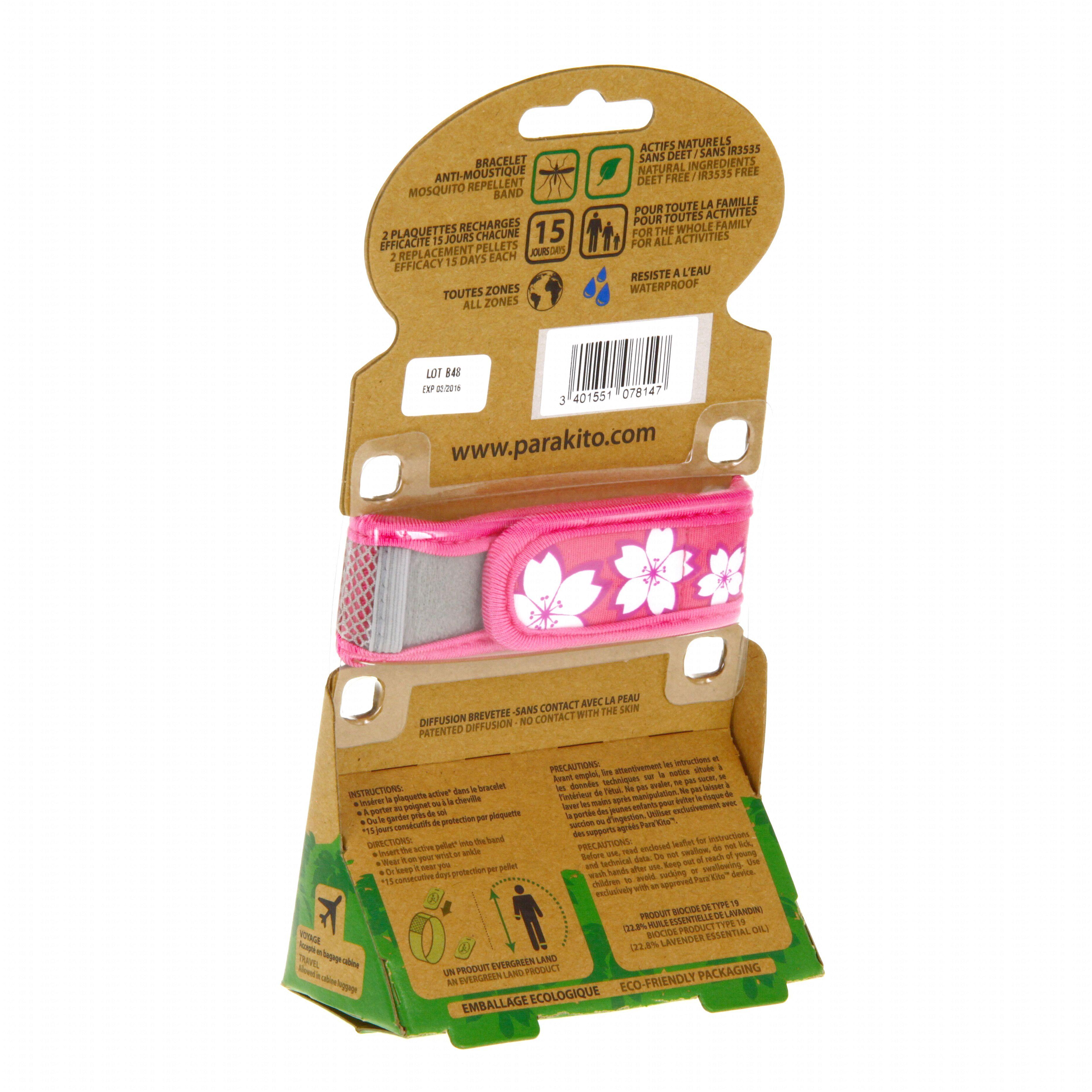 para 39 kito bracelet anti moustique rose motifs fleurs 2 recharges idim parapharmacie en ligne. Black Bedroom Furniture Sets. Home Design Ideas