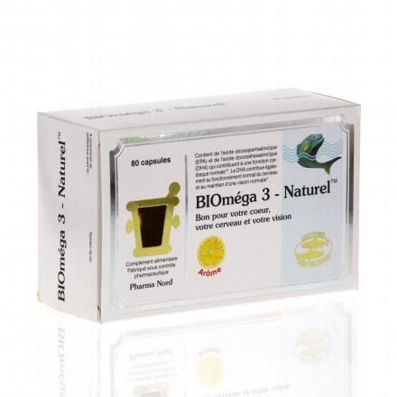 PHARMA NORD Biomega 3 naturel boîte de 80 capsules - Illustration n°1