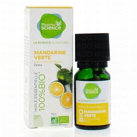 PHARMASCIENCE Huile essentielle de Mandarine Verte bio flacon 10 ml - Illustration n°2