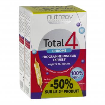 NUTREOV Total 4 chrome programme minceur express 30 ampoules - Illustration n°1