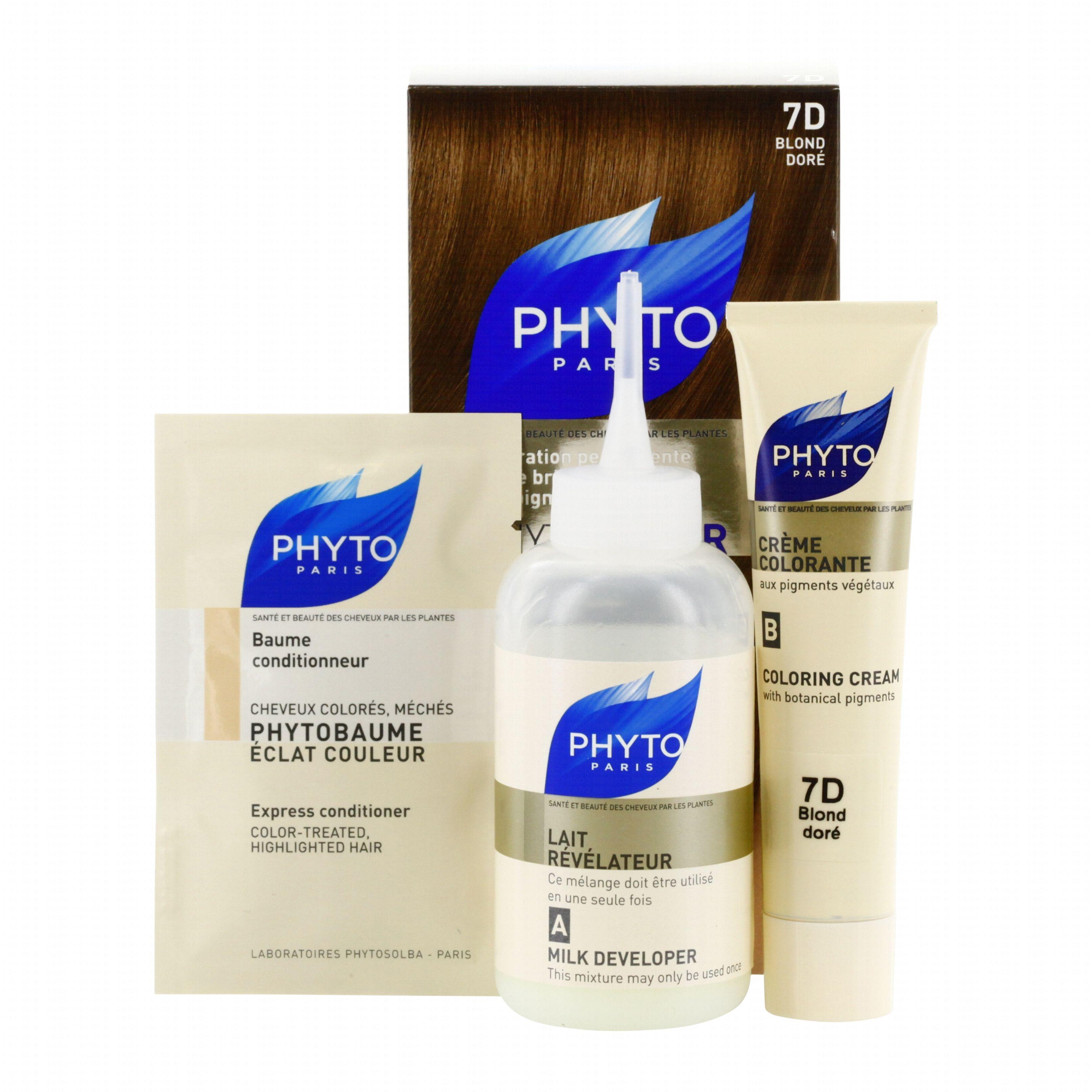 phyto color n7d couleur soin aux plantes tinctoriales blond dor 1 teinture 1 - Coloration Color Et Soin