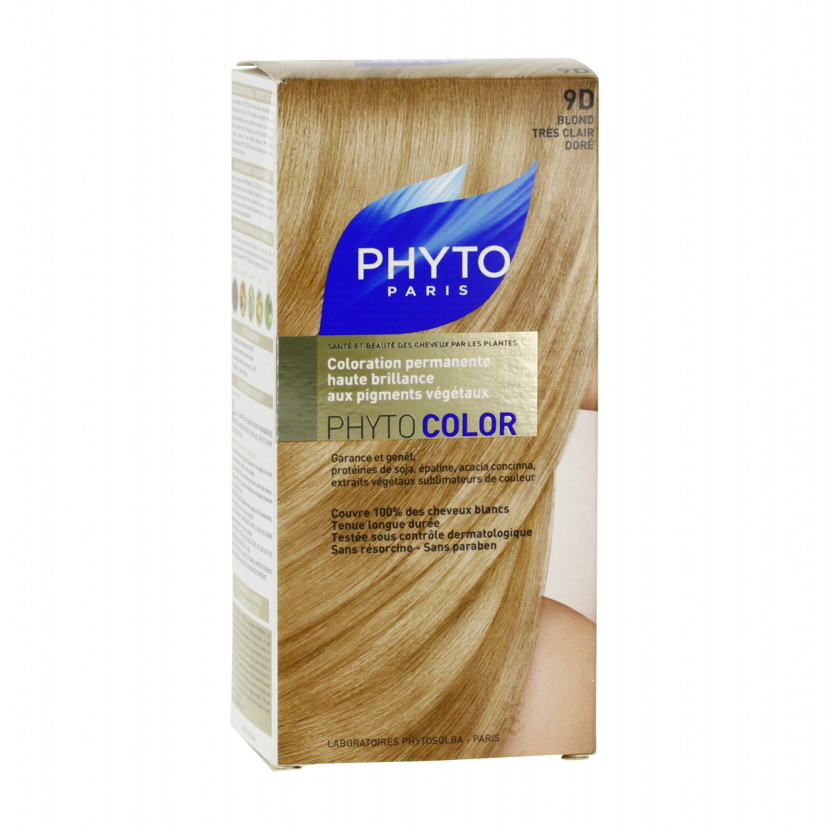 phyto color n9d couleur soin aux plantes tinctoriales blond trs clair dor 1 teinture - Phyto Coloration