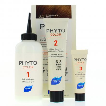 PHYTO Color n°6.3 BLOND FONCE DORE coloration permanente enrichie en pigments végétaux - Illustration n°2