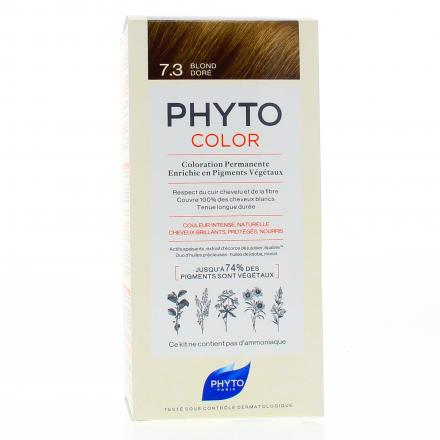 PHYTO Color n°7.3 BLOND DORE coloration permanente enrichie en pigments végétaux - Illustration n°1