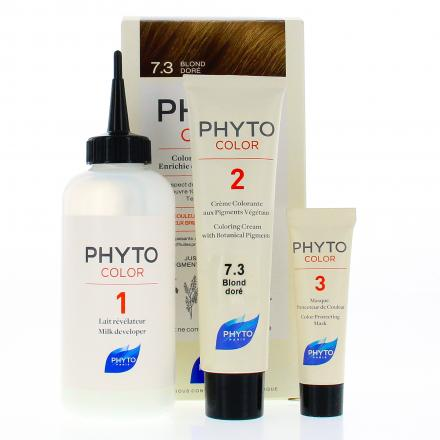 PHYTO Color n°7.3 BLOND DORE coloration permanente enrichie en pigments végétaux - Illustration n°2