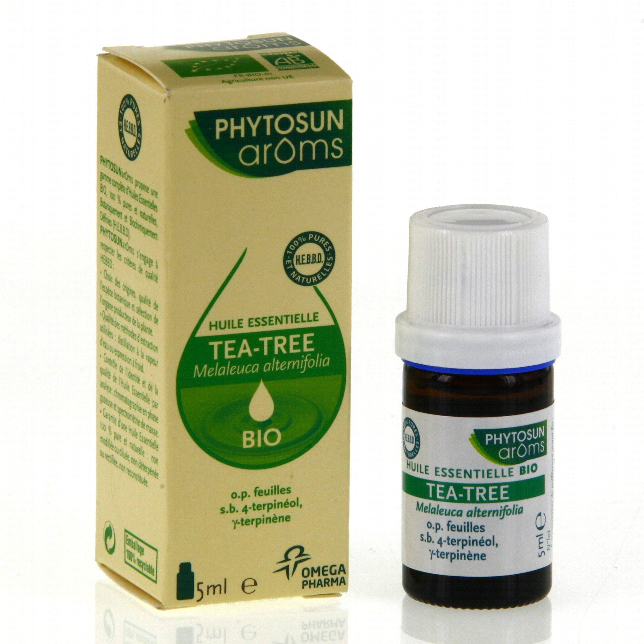 phytosun aroms huile essentielle tea tree bio flacon 5ml parapharmacie en ligne prado mermoz. Black Bedroom Furniture Sets. Home Design Ideas