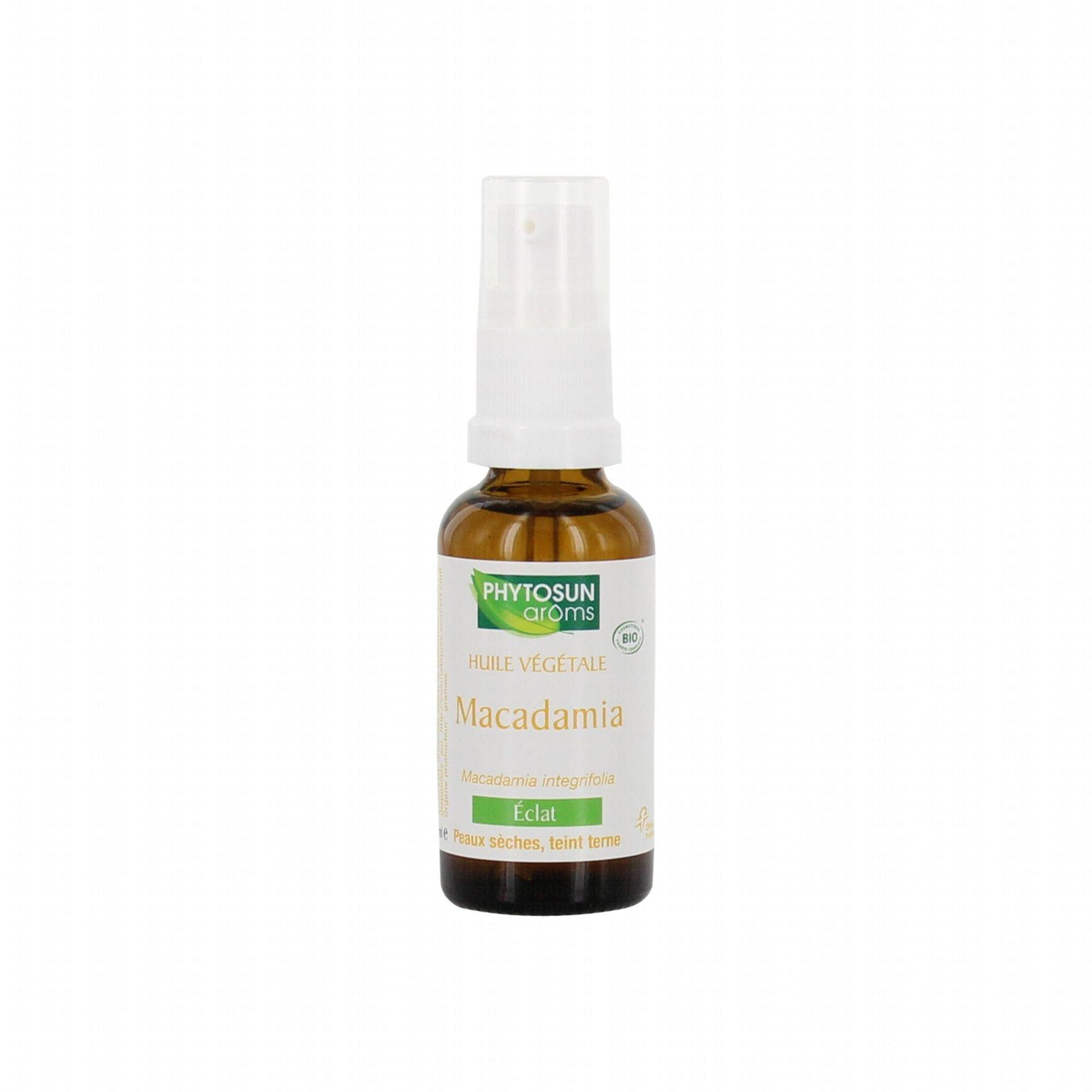 phytosun aroms huile v g tale bio de macadamia flacon 30 ml parapharmacie en ligne prado mermoz. Black Bedroom Furniture Sets. Home Design Ideas