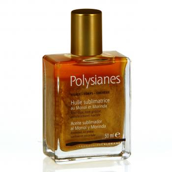 POLYSIANES Huile pailletée sublimatrice de bronzage flacon 50ml - Illustration n°1