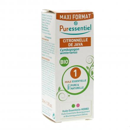 PURESSENTIEL Citronnelle de Java BIO MaxiFormat flacon 30ml - Illustration n°1