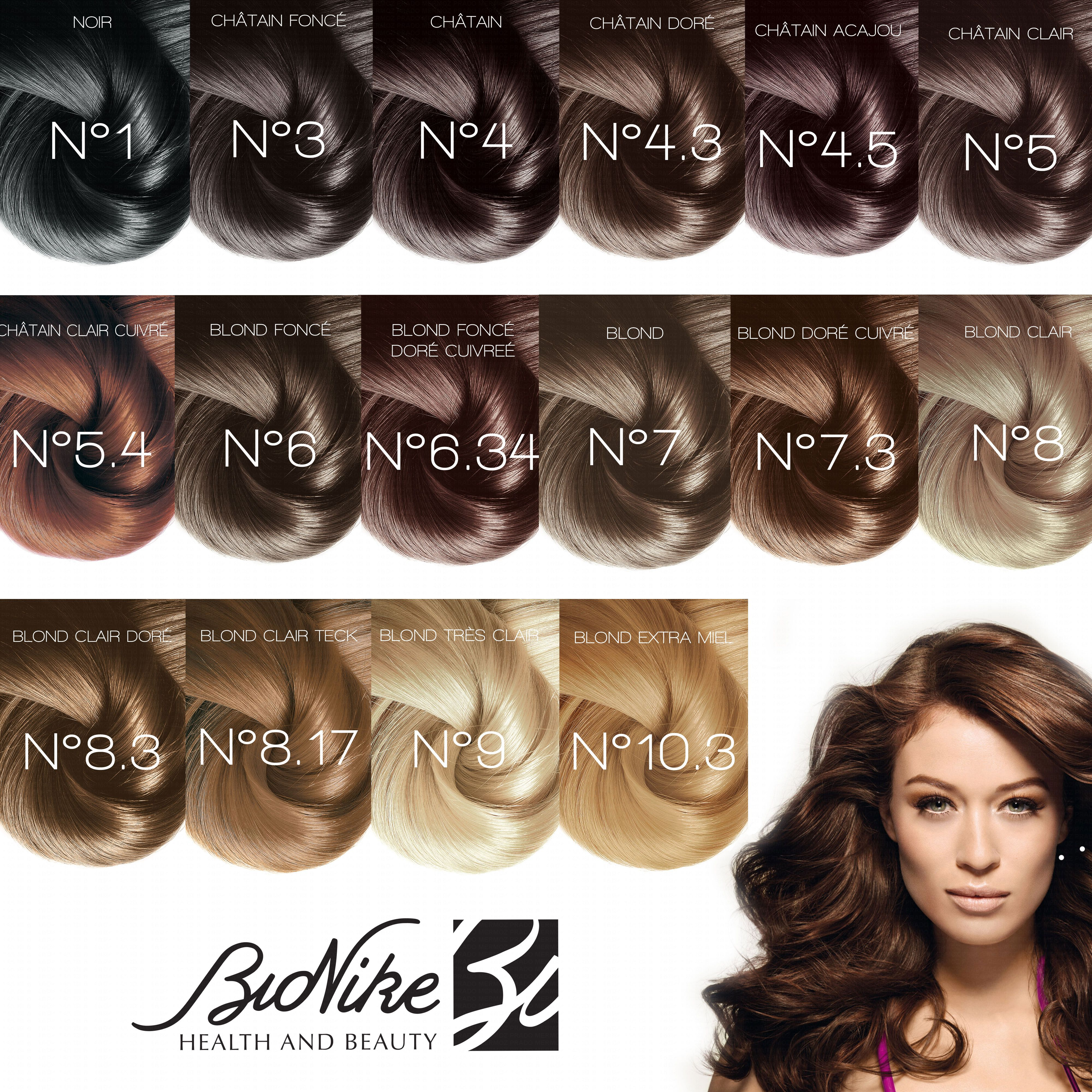 bionike shine on chtain clair cuivr 54 1 crme colorante 50ml 1 rvlateur 75ml - Coloration Chatain Acajou Cuivr