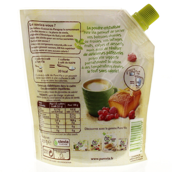 EFFICARE Pure via stevia doypack 250g - Illustration n°2