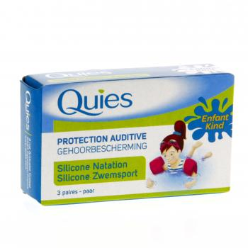QUIES Protection auditive silicone enfant boîte de 6
