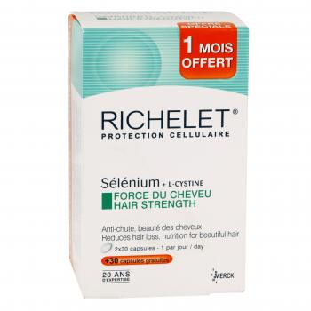 RICHELET Anti-âge cheveux lot de 3 x 30 comprimés - Illustration n°1