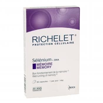 RICHELET Selenium mémoire 30 capsules - Illustration n°1